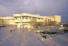 Центр на заходе солнца, Brentwood Getty, Калифорния Стоковое Изображение RF