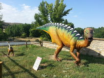 Центр палеонтологии del Рио Villar Гористые местности Сории Трасса Ichnite Стоковое фото RF