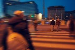Центр пешеходного перехода вены на времени вечера Стоковые Фото