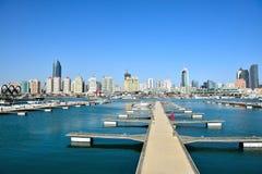 Центр плавания Qingdao олимпийский стоковое изображение