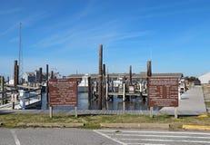Центр рыбной ловли входа Орегона на наружных банках Северной Каролины стоковые изображения rf