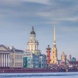 Центр Санкт-Петербурга, России Стоковая Фотография RF