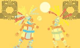 центр событий 2 майяское иллюстрация штока