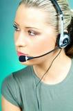 центр телефонного обслуживания агента Стоковое Изображение RF
