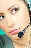 центр телефонного обслуживания агента Стоковые Изображения RF