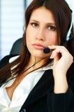центр телефонного обслуживания агента Стоковая Фотография