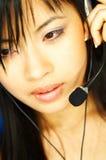 центр телефонного обслуживания агента Стоковое фото RF