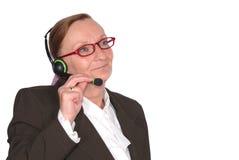 центр телефонного обслуживания коммерсантки Стоковое Изображение