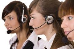 центр телефонного обслуживания счастливый Стоковая Фотография RF