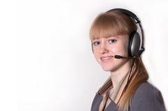 Центр телефонного обслуживания специалиста Стоковое Изображение