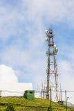 Центр управлением и отчетностью Doi Inthanon с радиолокационной станцией, Чиангмаем, Таиландом Стоковая Фотография