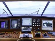Центр управления яхты стоковые фото