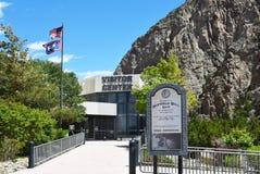 Центр для посетителей запруды Билла буйвола Стоковые Изображения RF