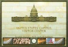Центр для посетителей капитолия Соединенных Штатов стоковые фото