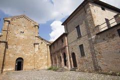 Центр Arquato пьяченцы Италии ` человеческого замка исторический стоковые фото