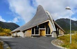 Центр Breheimsenteret посетителя, Jostedal, Норвегия стоковые изображения