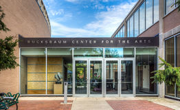 Центр Bucksbaum для искусств на кампусе коллежа Grinell Стоковое фото RF