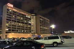 Центр CNN на съемке ночи широкой Стоковое Изображение RF