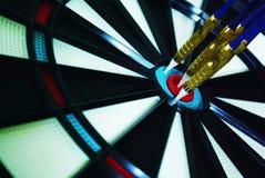 Центр Dartboard стоковые изображения rf