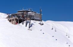 Центр Kasprowy лыжи в Tatras, Польше Верхняя станция Стоковые Фото