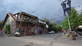 Центр Metelkova в Любляне сток-видео