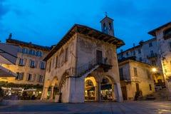 Центр Orta Сан Giulio, Италии Стоковая Фотография RF