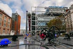 Центр Pompidou, Париж, Франция стоковая фотография rf