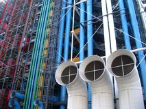 центр pompidou стоковые фото