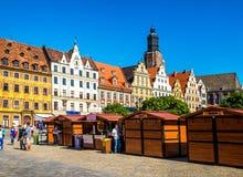 Центр Wroclaw - Польши исторический Стоковое Изображение RF