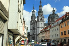 Центр Wurzburg стоковая фотография