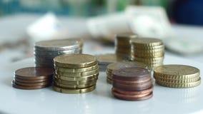 Цент евро чеканит вращать макроса акции видеоматериалы