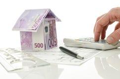 Цены архитектора расчетливые конструкции дома Стоковые Фотографии RF