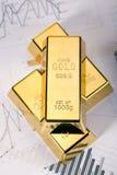 цены на золото прогноза Стоковое Изображение