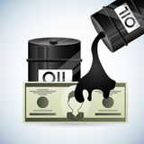 Цены на нефть Стоковое Фото