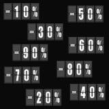 Цены со скидкой знамена продажи, иллюстрация вектора особенного предложения стоковые фото