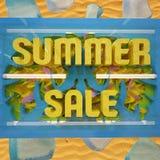 Цены со скидкой продажи лета иллюстрация вектора