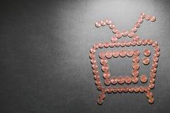 Цены ТВ Стоковая Фотография RF