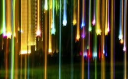 Цепи световых маяков, абстрактные предпосылки иллюстрация вектора