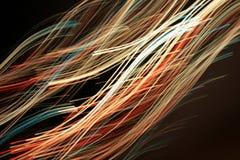 цепи световых маяков волокон оптически стоковая фотография rf