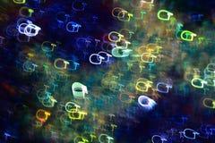 Цепи световых маяков в форме писем g стоковое фото