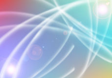 Цепи световых маяков красочные Стоковая Фотография