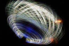 Цепи световых маяков на ноче Стоковые Изображения RF