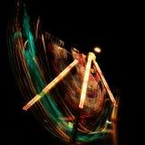 Цепи световых маяков на ноче Стоковые Фотографии RF