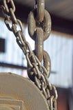 Цепи, шкивы стоковое изображение rf