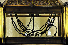 Цепи St Peter в Сан Pietro в церков Vincoli Стоковая Фотография RF