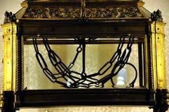Цепи St Peter в Сан Pietro в церков Vincoli Стоковые Изображения RF