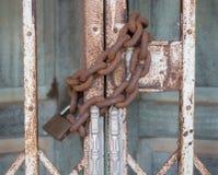 Цепная дверь замка Стоковое Фото