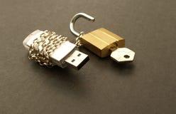 цепная ручка padlock памяти Стоковые Изображения RF
