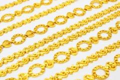 цепное золотистое Стоковые Изображения RF