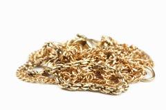 цепное золото стоковые изображения